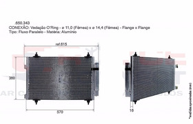 Condensador Citroen C4 Palllas Vtr Hatch Picasso 2.0 Valeo