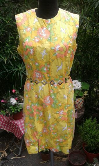 Retro Vintage Vestido Super Fresco Original Nuevo