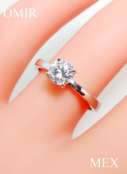 Anillo Compromiso Diamante 50 Puntos Oro 14k