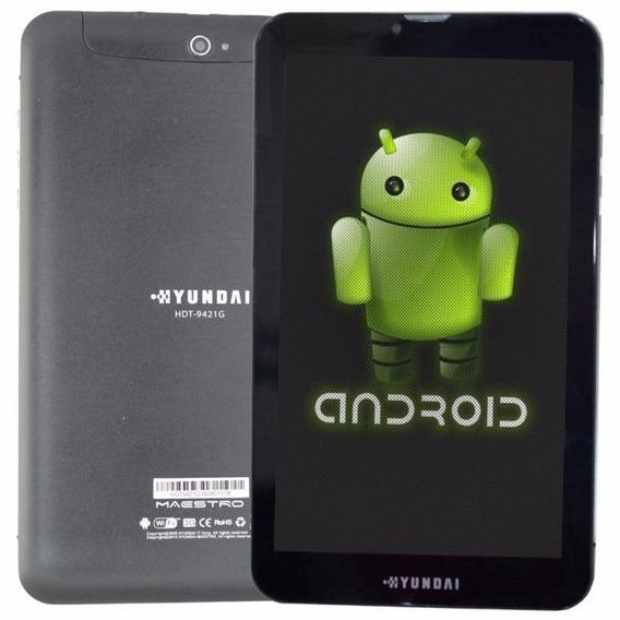 Tablet Função Celular 3g Hyundai 8gb Tela 9 Android 5.1