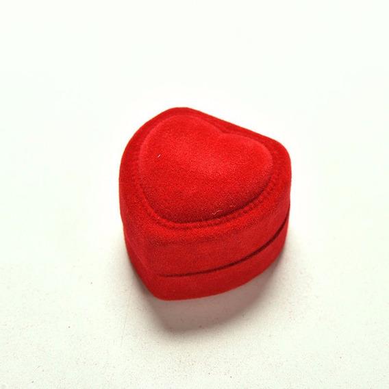 Estojos Coração Vermelho Em Forma De Caixa Do Anel