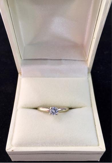Anillo De Compromiso .50ct Oro14k 4.5-5. Diamante Real!