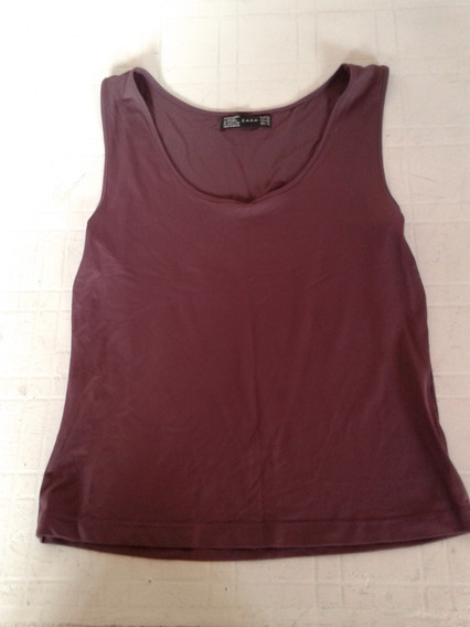 Musculosa Zara Purpura Talle L