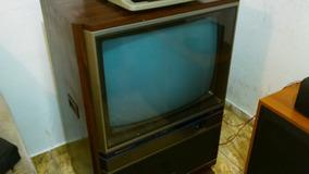 Tv Mitsubishi Colorida Vintage Tc 2602 Entrada De Audio 3d