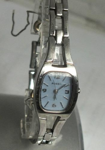 42c5fb182a63 Reloj Fossil Es1002 Casual Dama Acero Esfera Azul Ajustable