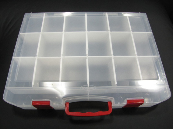 Maleta Organizador Divisórias Móveis Plástico C/ Alça