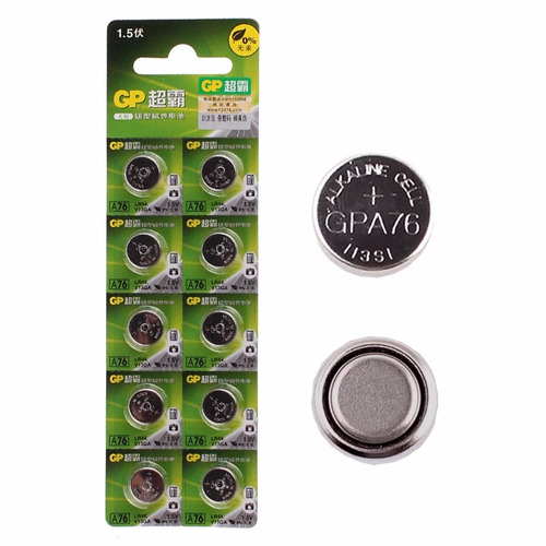 Pila Bateria Gp 1.5v  Lr44 / A76 Tirilla De 10