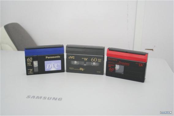 60 Fitas Mini Dvc Marcas Sony, Panasonic, Jvc Usadas