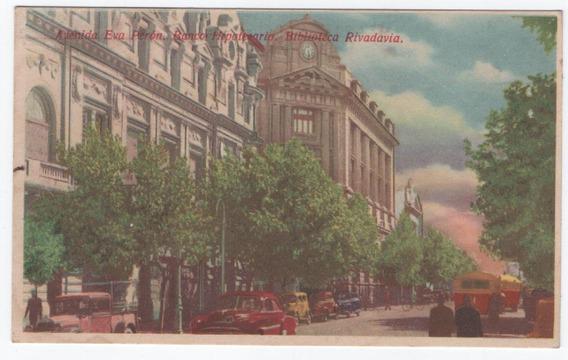 Postal De Bahia Blanca - Avenida Eva Peron