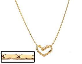 Gargantilha Diamantado Coração Vazado Ouro Rommanel 530519