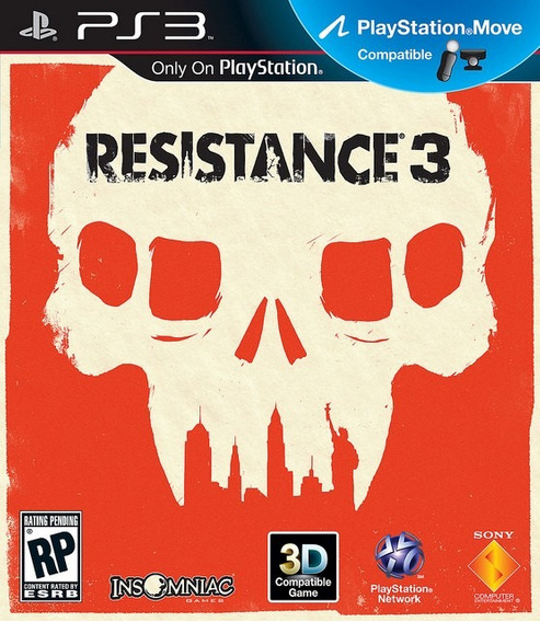 Jogo Resistance 3 Playstation 3 Ps3 Game Mídia Física Guerra