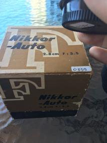 Lente Nikon Nikkor-auto 2.8 28mm F:3.5