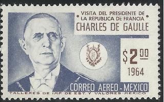 1964 Visita Presidente D Francia De Gaulle A México Sc. C281