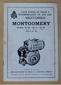 Manual Motor Montgomery M-98 M-111 M-137