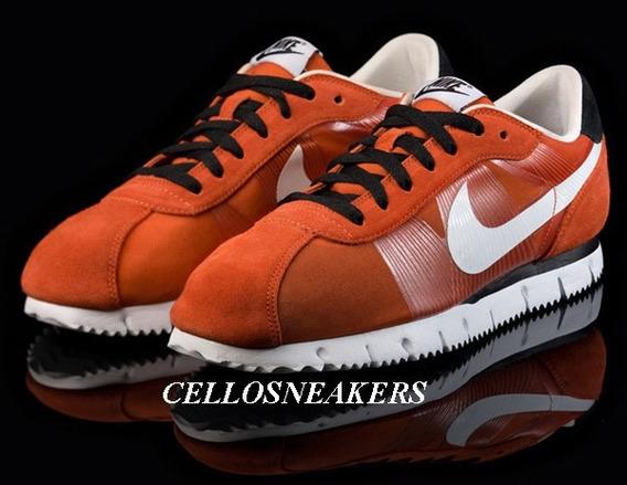 Tenis Nike Cortez 38 Laranja Fly Motion Lowrider Chicano
