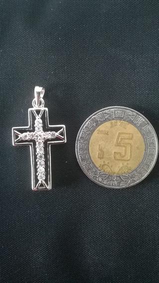 Cruz En Plata Solida .925 Con Cristales