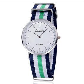 Relógio De Pulso Pulseira Lona Gorgurão 25cm