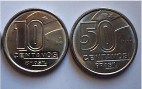 Moedas De 1990 50 E 10 Centavos Fc. Escassas