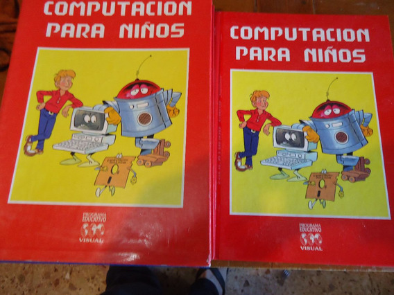 Computacion Para Niños - 3 Tomos Con Estuche Impecable