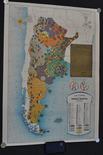 Mapa Industria Argentina Firma Peron Peronismo C 1945