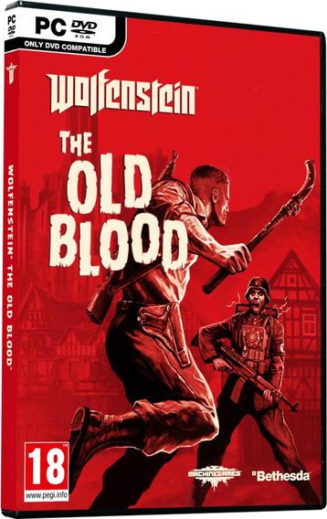 Wolfenstein The Old Blood Pc Dvd Mídia Física Frete 8 Reais