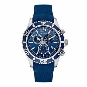 Relógio Masculino Nautica N15103g Pulseira De Silicone Azul