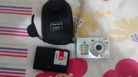 Camera Digital Sony W55 Cartão 2gb Novíssima Frete Grátis