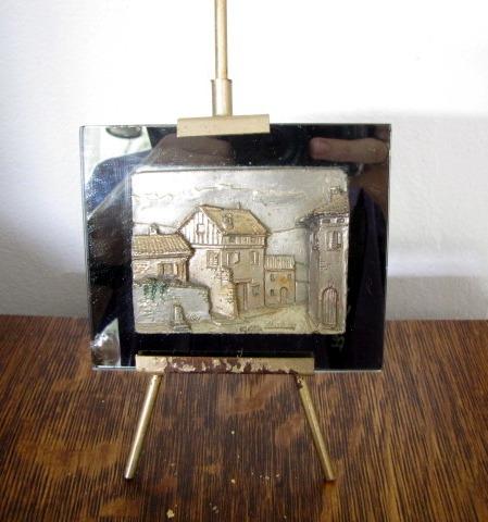 Antigo Objeto Decorativo Quadro Com Suporte #2523