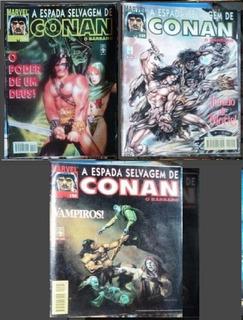 Lote Revistas Hq Raras Conan O Barbaro-marvel N° 154-155-156