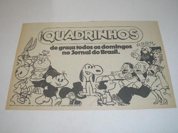 L - 290/ Gpop1 Propaganda Antiga Quadrinhos Jornal Do Brasil