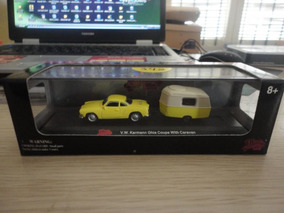 Lindo Malibu Karmann Guia Coupe Com Caravan - No Estojo !!!