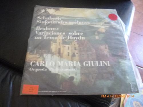 Vinilo De Carlo Maria  Giulini - Schubert -brahms (u927