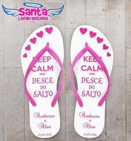 9e39be79890b0a Chinelo Casamento Keep Calm Personalizado Kit Com 50 Pares