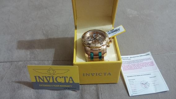 Relógio Invicta Pro Diver Scuba 6981 E 0074 Ouro 18k