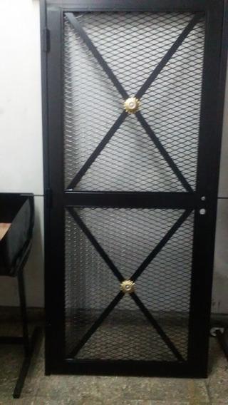 Puerta De Rejas 90 Cm X 2.0 Mts