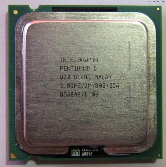 Processador Intel Pentium D 820 2.80ghz Sl88t Socket Lga775