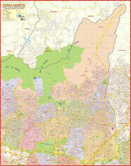 Mapa Político Gigante Da Zona Norte E Noroeste De São Paulo