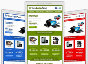 Templates Editavel 5 Modelo Html Anuncio Email Marketing