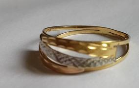 Imperdível: Anel Ouro Branco E Amarelo 18k