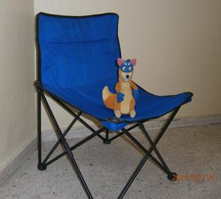 La Silla Playera Azul Super Comoda Y Nuevexita Pa Ti!!