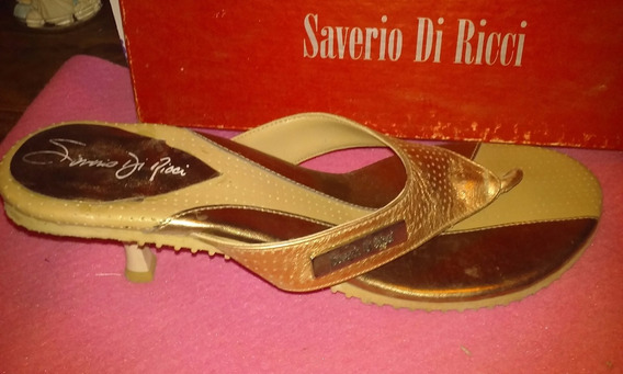 Sandalias Saverio Di Ricci Talle 39 Cuero