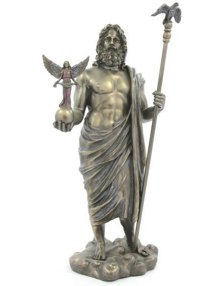 Veronese Imagem Deus Do Olimpo Zeus Jupiter C/ Nice Nas Mãos