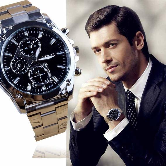 Relógio Pulseira De Aço Inox Masculino Importado Mah