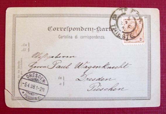 Austria - Tarjeta Postal 1898 Trieste-dresden L2487