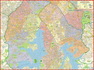 Mapa Gigante Da Zona Sul De São Paulo ~ Tamanho 1,20 X 0,90m