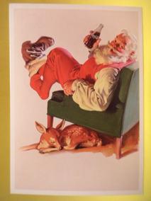 Cartão Postal Natal Da Coca-cola Do Papai Noel Original (01)
