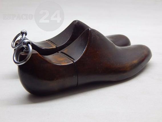 Antiguo Par De Hormas Madera Maciza Para Calzado Articuladas