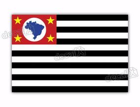 Adesivo Bandeira Sao Paulo Resinado 4x6cm Bd42