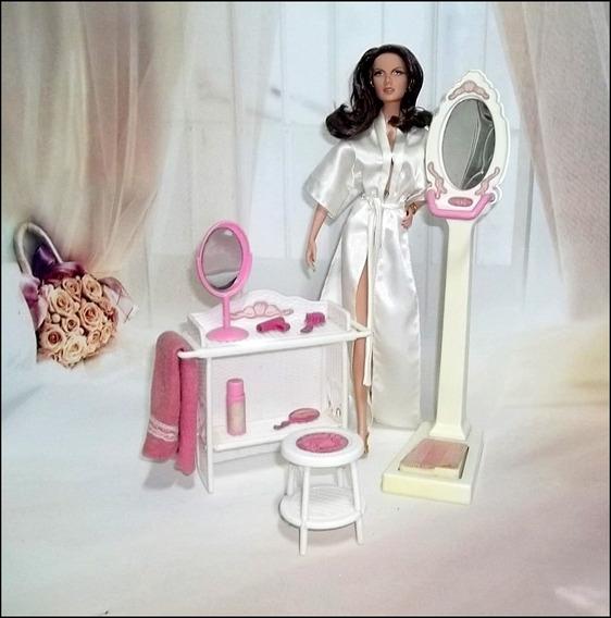 Raro Barbie Complementos Do Banheiro Estrela Anos 80 Boneca