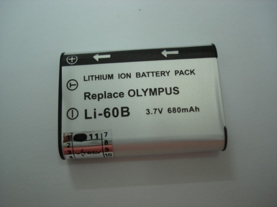 Bateria Trev Para Olympus Li-60b 3.7v 680mah